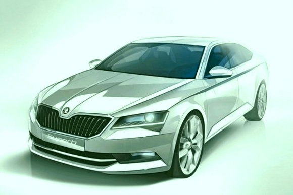 sketch skoda superb 2015