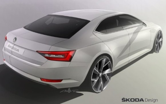 skoda superb 2015 sketch
